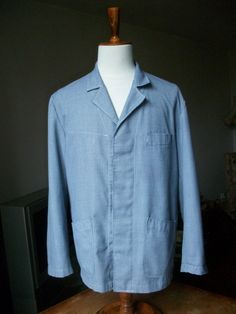 Vintage French work jacket chores shopkeeper in by LaCravate