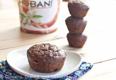 Double Chocolate Chobani Muffins-could use any greek yogurt. Plain and just add a touch of vanilla to it.