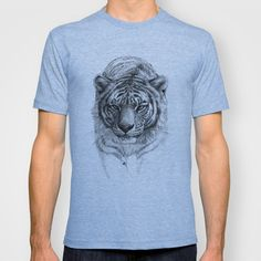 Tiger SK0102 T-shirt by S-Schukina - $18.00