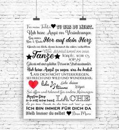 """""""Für meine Tochter"""" Kunstdruck von MilaLu auf DaWanda.com"""