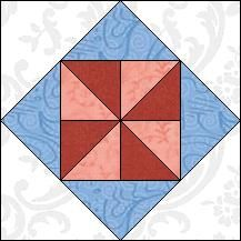 Block of Day for December 20, 2016 - Flying Pinwheel-strip piercing-The pattern may be downloaded until: Saturday, December 31, 2016.