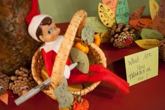 Elf on the Shelf idea   Jack is thankful for Luca