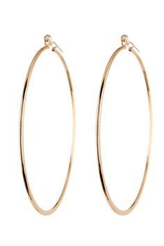 Blue Nile Medium Hoop Earring in 14k Rose Gold (1 3/8) bz5kBAU