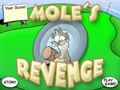 An #arcade #game in which #players use a mallet to hit #toy #moles, which appear at random, than they back into their holes to hide. This mole's prepared to mosey on into a #dangerous new #adventure!
