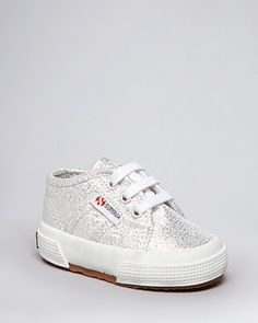 Superga Infant Girls' Lamé Baby Tie Sneakers - Sizes 3-6 Infant | Bloomingdale's