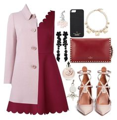 """""""Red Dress"""" by belabelistic ❤ liked on Polyvore featuring RED Valentino, Valentino, Kate Spade, Alexander Wang, Bling Jewelry, women's clothing, women, female, woman and misses"""