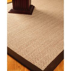 Beige And Brown Jut Rug