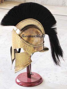 ROMAN 300 SPARTAN HELMET KING LEONIDAS MOVIE REPLICA HELMET LARP GREEK HELMET