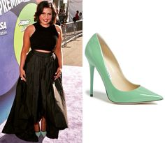 Mindy's mint green pumps from the Inside Out premiere