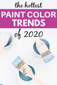 Shades of pink, blue and green are some of the 2020 paint color trends. But there are also some neutral options if that's what you prefer. Click through to check out all of the color interior design trends for this year. #fromhousetohome #2020coloroftheyear #paintcolors #trends #paintcolortrends #paintingtips Office Paint Colors, Bathroom Paint Colors, Wall Paint Colors, Interior Paint Colors, Paint Colors For Living Room, Paint Colors For Home, Trending Paint Colors, Popular Paint Colors, Dunn Edwards Colors