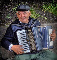 Norway street musician.
