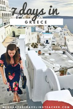 Week in Greece How to spend 7 days or One Week in Greece – The Traveling Teacher visit Athens, Delphi, Meteora, Santorini, and Mykonos for one perfect week in Greece!Mykonos (disambiguation) Mykonos may refer to: Greece Itinerary, Greece Honeymoon, Greece Travel, Greece Trip, Greece Tourism, Vacation To Greece, Greece Beaches, Greek Islands Vacation, Greece Food