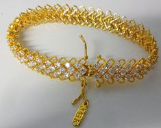 Jackie Kennedy Crystal Bracelet - Gold Plated, Crystals, Box and Certificate - Size 7 Jacqueline Kennedy Jewelry, Jackie Kennedy, Signature Stamp, Fine Jewelry, Unique Jewelry, Beautiful Gifts, Crystal Bracelets, Certificate, Mall