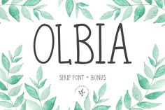 Olbia | Font + Bonus  @creativework247