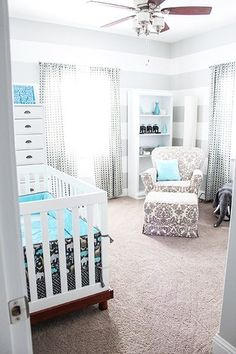 I just can not wait to be a GRAND momma!    Grey and teal boy nursery