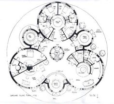 'Trihouse' The drawings below represent a number of designs for some Sacred Geometry Homes - designed and hand drawn by Michael Architecture Durable, Architecture Drawings, Concept Architecture, Sustainable Architecture, Architecture Design, Geometry Architecture, Round House Plans, Dream House Plans, House Floor Plans