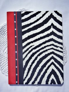 altered composition notebook black and white by avirgindesign, $11.75