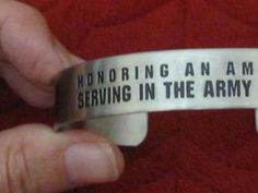 US Army National Guard American Hero Bracelet Band in Original Box Never Worn !