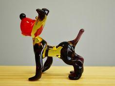 BullDog Glass Figurine Dog Animals Glass Doggy Miniature Art | Etsy Caterpillar Toys, Owl Pet, Dog Sculpture, Glass Figurines, Glass Collection, Handmade Toys, Glass Art, Art Pieces, Miniatures