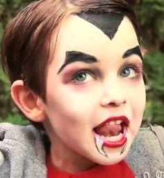 Baby vampire makeup