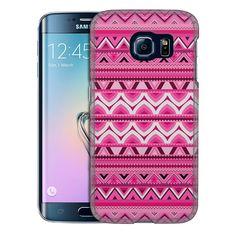 Samsung Galaxy S6 Edge Aztec Andes Pink Slim Case
