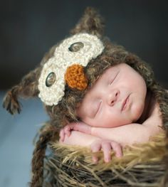 OMGsh how cute is this!? POPULAR Warm Newborn 3m 6m Fuzzy Brown Owl Hat Photo Prop Crochet Baby Clothes Boys Girls Gender Neutral HALLOWEEN Costume CHRISTMAS Gift. $34.95, via Etsy.