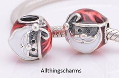 Brand New Genuine Silver Pandora Jolly Father Christmas Charm 791405ENMX RRP £45 in Jewellery & Watches, Fine Jewellery, Fine Charms & Charm Bracelets | eBay!
