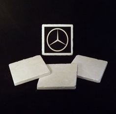 Mercedes Benz Car Logo Coaster by TheCoasterMan on Etsy, $8.00