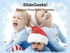 Christmas Children Holidays PowerPoint Template 1010 #PowerPoint #Templates #Themes #Background