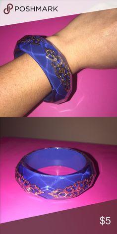 Blue and gold bangle bracelet Great condition Jewelry Bracelets