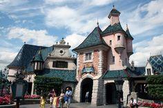 EuroDisney's Fantasyland architecture bases on Beauty & the Beast, a French based Disney animated film