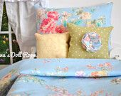 American Girl Doll Bedding 4 Piece set for 18 inch dolls - Shabby Chic