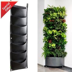 Vertical Tower Garden 7 Pockets Wall Kit Planter Indoor Outdoor Herb Wall Plant #Doesnotapply #Costum #wallgardens