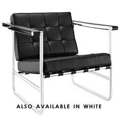 Modern Stainless Steel Lounge Chair Sheldon