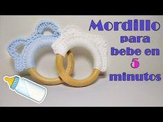 Mordillo o mordedor para bebe a crochet Crochet Bebe, Love Crochet, Diy Crochet, Macrame, Baby Shoes, Make It Yourself, Knitting, Dyi, Crochet Stitches