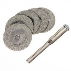 5pcs 20mm Diamond Cutting Discs Jewelry Tools With One 2mm Mandrel (FREE SHIPPING WORLDWIDE) on Etsy, £3.99