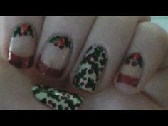 Hotpinkzebrapolish Elegant Holly Nail Art Tutorial