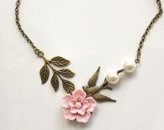 Pretty spring necklace  on Etsy