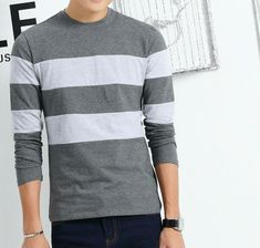 Fabulous striped T-shirt Be fashionable. With high quality. You do worth it. Asian size, which is smaller than US size, please choose carefully. Color will be a