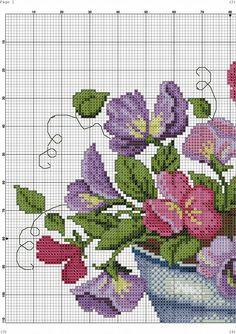 Cross Stitch Borders, Cross Stitch Rose, Cross Stitch Flowers, Counted Cross Stitch Patterns, Cross Stitch Designs, Cross Stitching, Cross Stitch Embroidery, Embroidery Patterns, Cross Stitch Kitchen