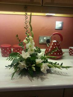 flower arrangement using white gladioli flower arrangement using white gladioliflower arrangement using white gladioli Beautiful Flower Arrangements, Floral Arrangements, Beautiful Flowers, Flower Decorations, Table Decorations, Gladiolus Flower, Church Flowers, Bouquet, Floral Design