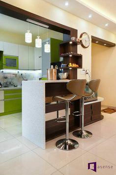 Living Room Partition Design, Room Door Design, Kitchen Room Design, Kitchen Cabinet Design, Modern Kitchen Design, Home Decor Kitchen, Kitchen Designs, Small House Interior Design, Interior Design Kitchen