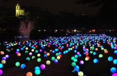 put glow sticks in a balloon and put them all over your yard...great idea for a summer party. - Click image to find more Outdoors Pinterest pins