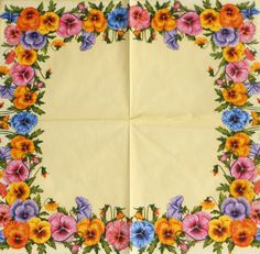 Yellow decoupage paper napkins. Flower napkin. by Napkintime