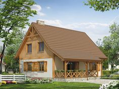Dormer Roof, Cabana, Wooden Cabins, Design Case, Home Fashion, Traditional House, Facade, My House, House Plans