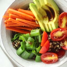 Made with quinoa, fresh vegetables, avocado and sweet honey ginger sauce, this…