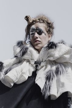 Bodil Moller, for his master's in Textile & Fashion design at the Royal Danish Academy of Fine Arts, explores the theme of winter.