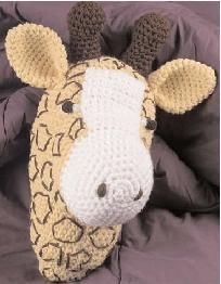 Crochet Giraffe Pillow - isn't this too cute?