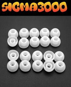 20 Almohadillas de silicona para auriculares, repuesto-talla-M-color: Blanco
