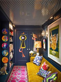 Flur Design, Design Design, Design Ideas, Living Room Decor, Bedroom Decor, Pop Art Bedroom, Wall Decor, Home And Deco, Furniture For Small Spaces